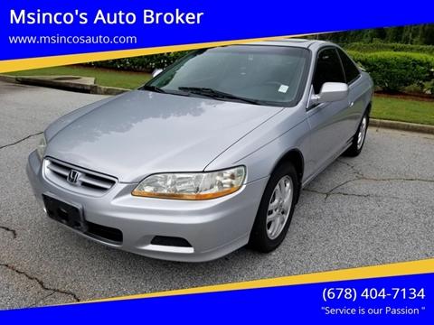 2001 Honda Accord for sale at Msinco's Auto Broker in Snellville GA