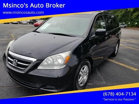 2007 Honda Odyssey for sale at Msinco's Auto Broker in Snellville GA
