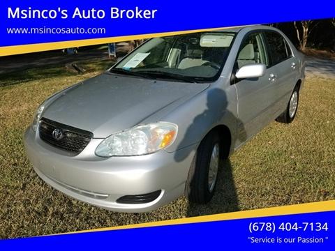 2007 Toyota Corolla for sale at Msinco's Auto Broker in Snellville GA