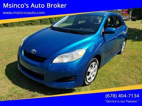 2009 Toyota Matrix for sale at Msinco's Auto Broker in Snellville GA