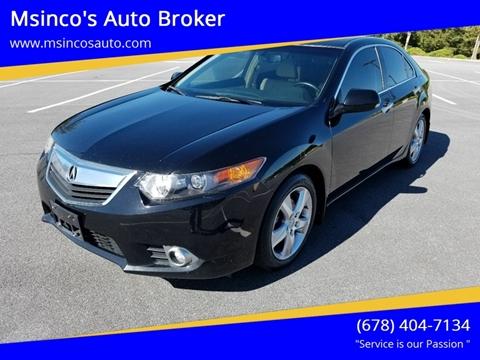 2011 Acura TSX for sale at Msinco's Auto Broker in Snellville GA