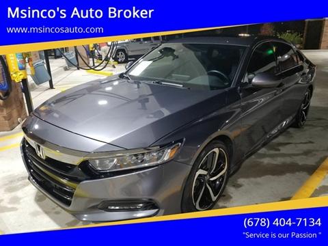 2018 Honda Accord for sale at Msinco's Auto Broker in Snellville GA