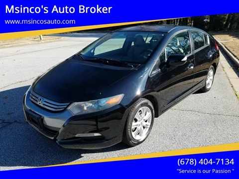 2010 Honda Insight for sale at Msinco's Auto Broker in Snellville GA