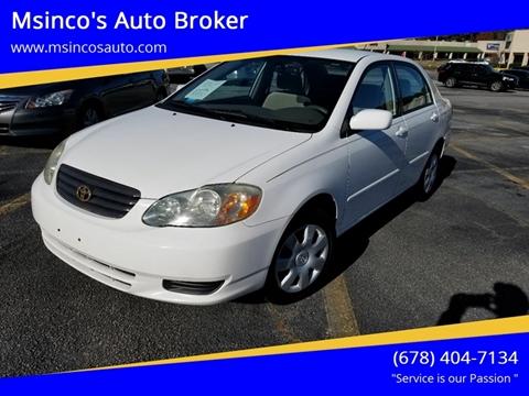 2003 Toyota Corolla for sale at Msinco's Auto Broker in Snellville GA
