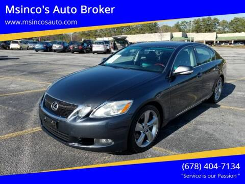 2008 Lexus GS 350 for sale at Msinco's Auto Broker in Snellville GA