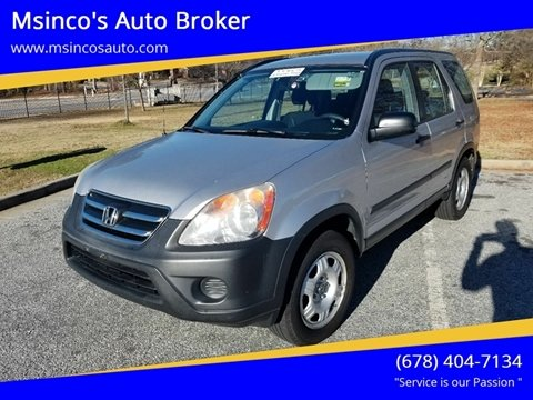 2006 Honda CR-V for sale at Msinco's Auto Broker in Snellville GA
