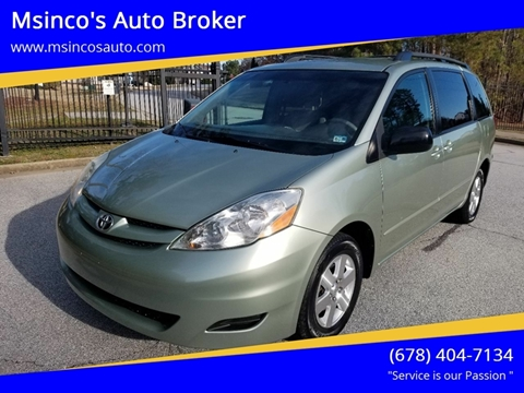 2006 Toyota Sienna for sale at Msinco's Auto Broker in Snellville GA
