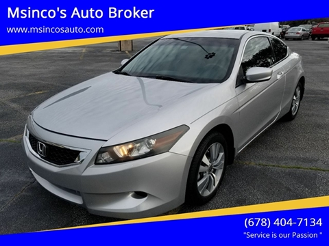 2010 Honda Accord for sale at Msinco's Auto Broker in Snellville GA