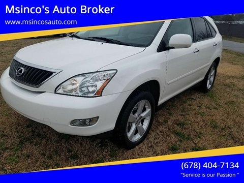 2008 Lexus RX 350 for sale at Msinco's Auto Broker in Snellville GA