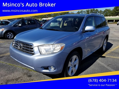 2008 Toyota Highlander for sale at Msinco's Auto Broker in Snellville GA