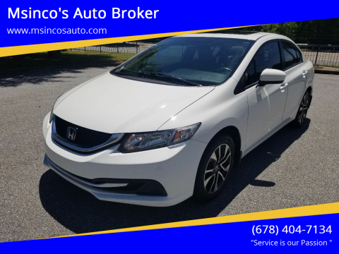 2014 Honda Civic for sale at Msinco's Auto Broker in Snellville GA