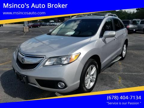 2013 Acura RDX for sale at Msinco's Auto Broker in Snellville GA