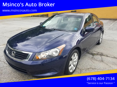 2008 Honda Accord for sale at Msinco's Auto Broker in Snellville GA