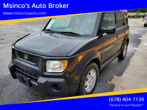 2006 Honda Element for sale at Msinco's Auto Broker in Snellville GA