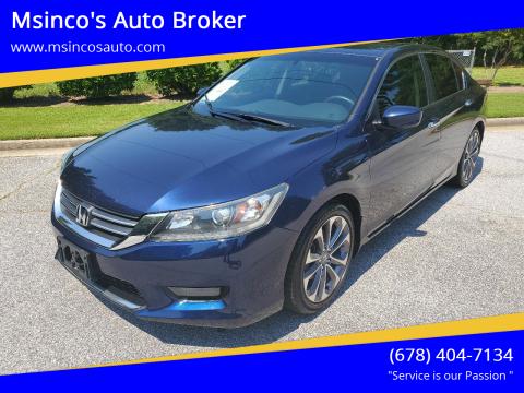 2014 Honda Accord for sale at Msinco's Auto Broker in Snellville GA