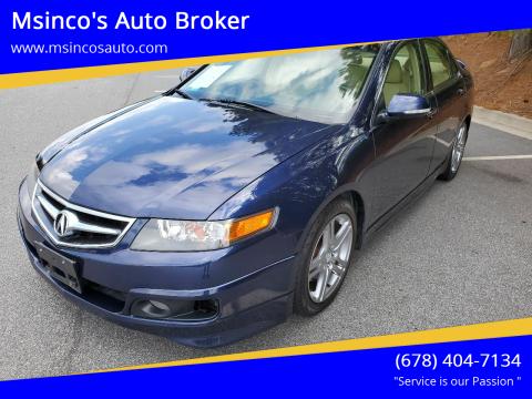 2006 Acura TSX for sale at Msinco's Auto Broker in Snellville GA