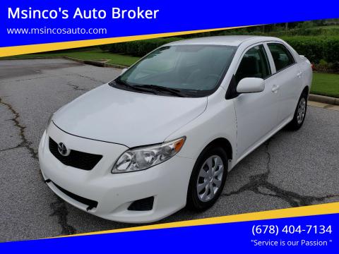 2010 Toyota Corolla for sale at Msinco's Auto Broker in Snellville GA