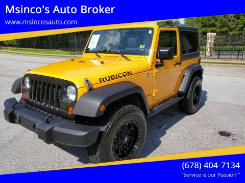 2012 Jeep Wrangler for sale at Msinco's Auto Broker in Snellville GA