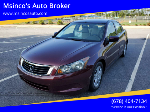 2009 Honda Accord for sale at Msinco's Auto Broker in Snellville GA