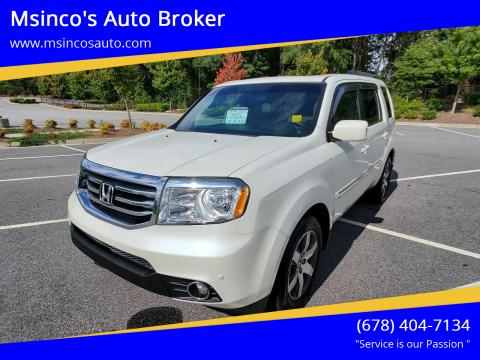 2012 Honda Pilot for sale at Msinco's Auto Broker in Snellville GA