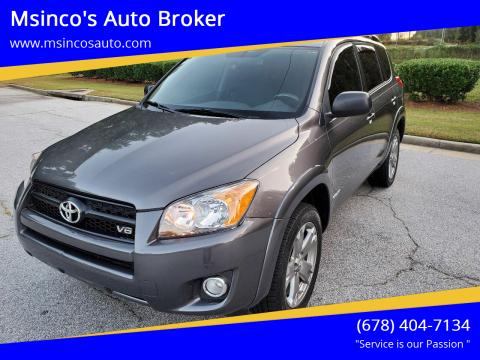 2011 Toyota RAV4 for sale at Msinco's Auto Broker in Snellville GA