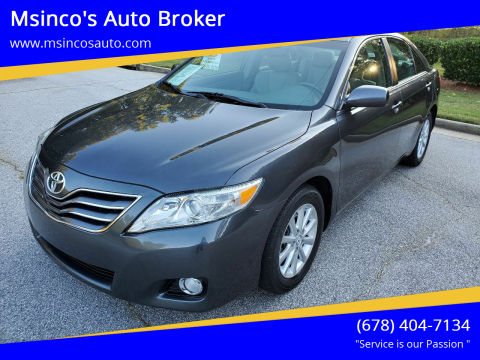 2011 Toyota Camry for sale at Msinco's Auto Broker in Snellville GA