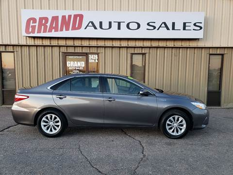 2017 Toyota Camry Hybrid for sale at GRAND AUTO SALES in Grand Island NE