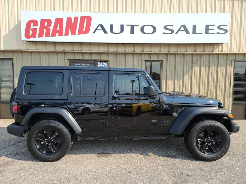 2020 Jeep Wrangler Unlimited for sale at GRAND AUTO SALES in Grand Island NE