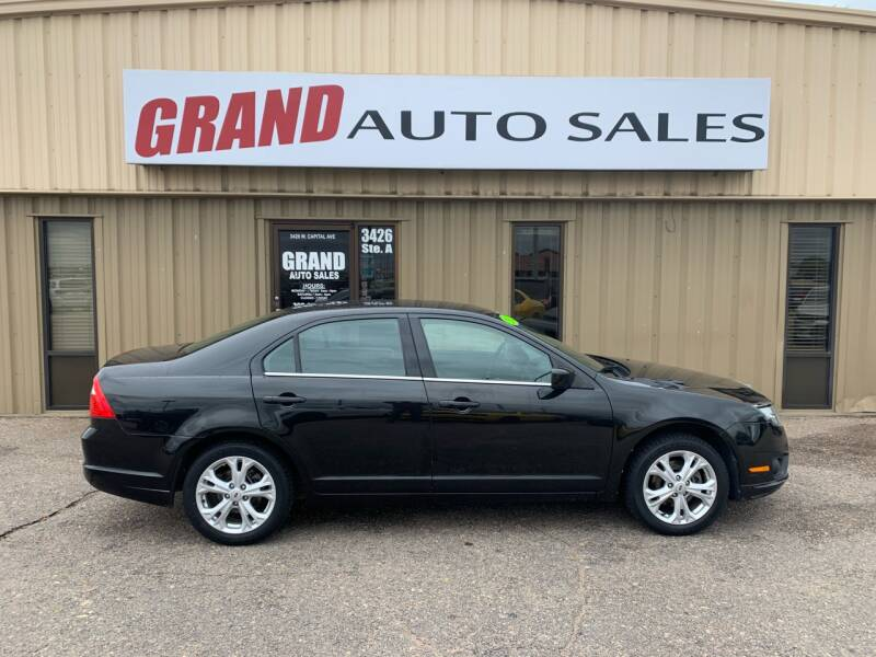 2012 Ford Fusion for sale at GRAND AUTO SALES in Grand Island NE