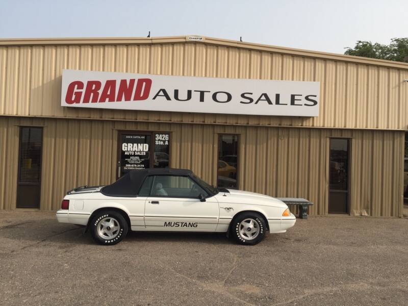 1993 Ford Mustang for sale at GRAND AUTO SALES in Grand Island NE