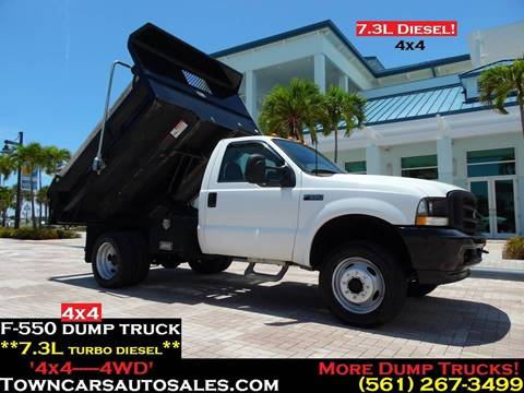 2002 Ford F-550 for sale in West Palm Beach, FL