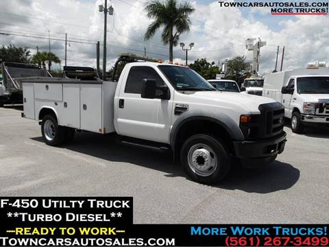 Work Truck For Sale >> 2008 Ford F 450 For Sale In West Palm Beach Fl