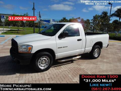 2006 Dodge Ram Pickup 1500 SLT for sale at Town Cars Auto Sales in West Palm Beach FL