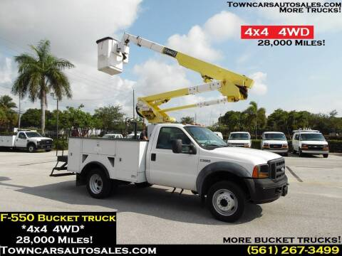2006 Ford F-550 Super Duty for sale at Town Cars Auto Sales in West Palm Beach FL