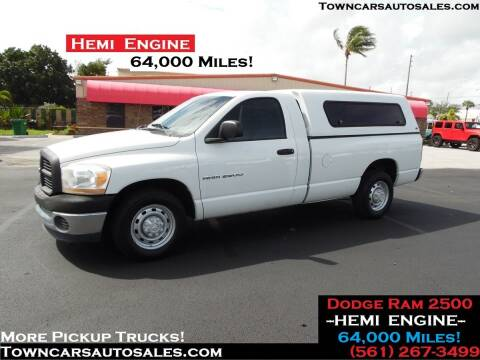 2006 Dodge Ram Pickup 2500 for sale at Town Cars Auto Sales in West Palm Beach FL