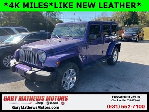 2018 Jeep Wrangler Unlimited for sale in Clarksville, TN