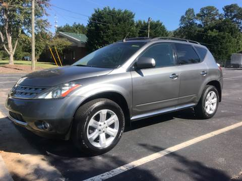 2007 Nissan Murano for sale at GTO United Auto Sales LLC in Lawrenceville GA