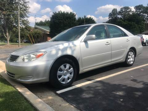 2002 Toyota Camry for sale at GTO United Auto Sales LLC in Lawrenceville GA