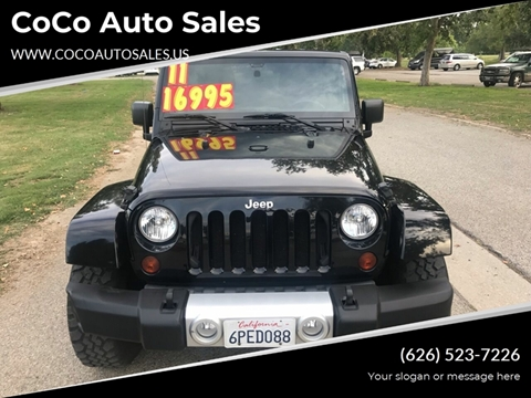 2011 Jeep Wrangler Unlimited for sale in South El Monte, CA