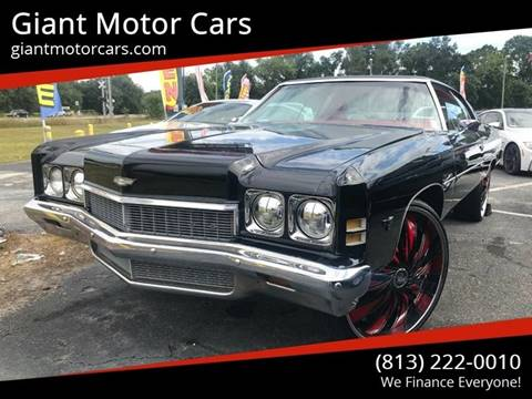 1972 Chevrolet Impala for sale at Giant Motor Cars in Tampa FL
