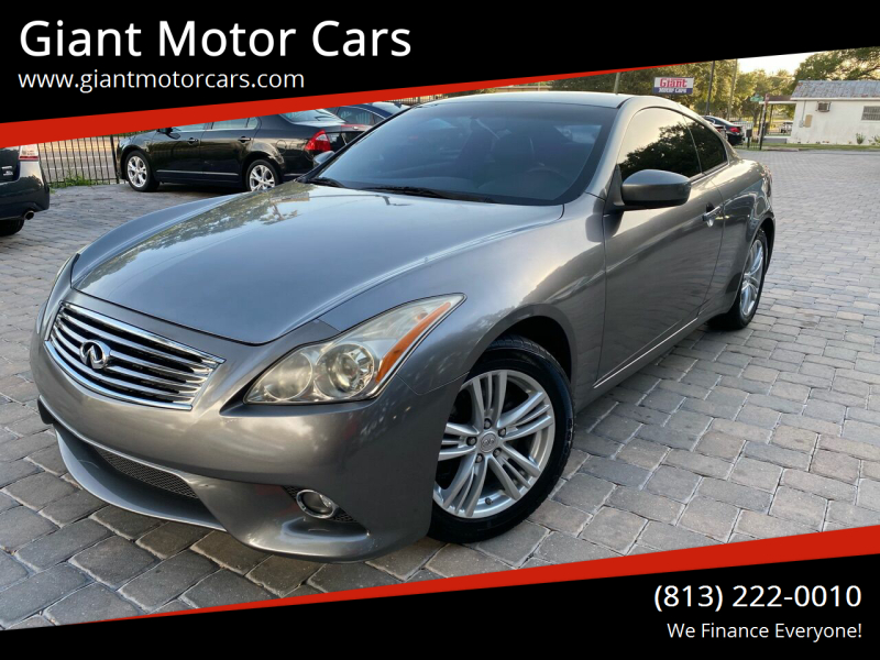 2010 Infiniti G37 Coupe for sale at Giant Motor Cars in Tampa FL