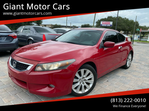 2010 Honda Accord for sale at Giant Motor Cars in Tampa FL