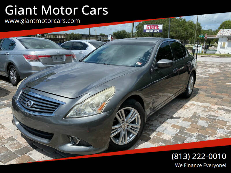 2012 Infiniti G37 Sedan for sale at Giant Motor Cars in Tampa FL