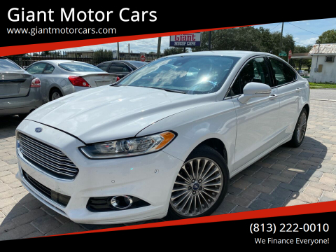 2013 Ford Fusion for sale at Giant Motor Cars in Tampa FL