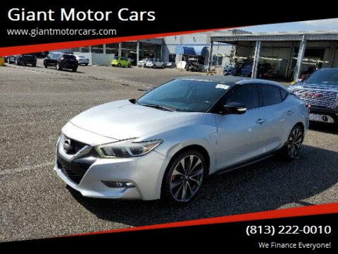2016 Nissan Maxima for sale at Giant Motor Cars in Tampa FL