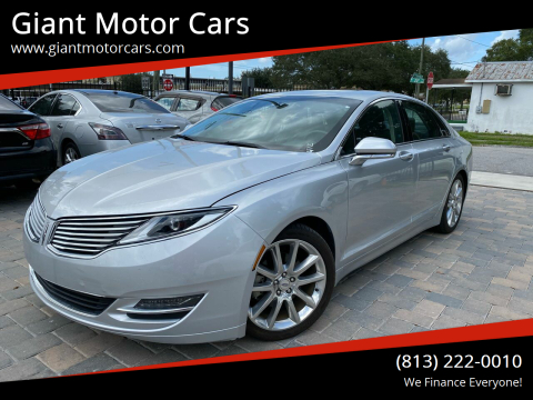2014 Lincoln MKZ for sale at Giant Motor Cars in Tampa FL
