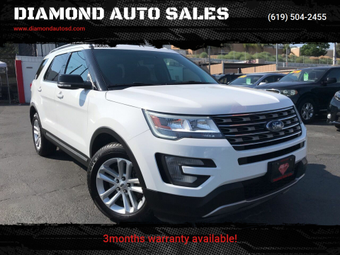 2017 Ford Explorer for sale at DIAMOND AUTO SALES in El Cajon CA