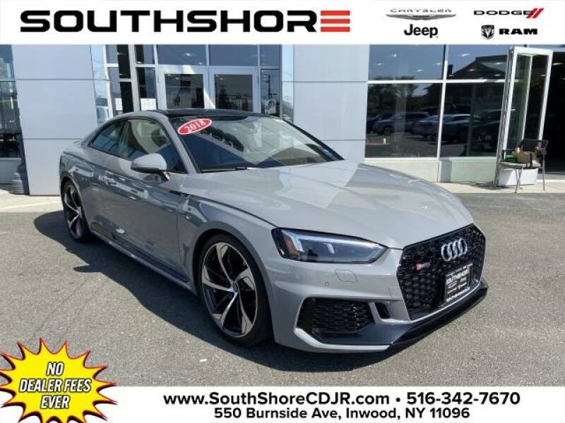 2018 Audi RS 5 for sale at South Shore Chrysler Dodge Jeep Ram in Inwood NY