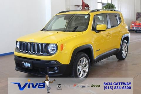 jeep renegade for sale in el paso tx. Black Bedroom Furniture Sets. Home Design Ideas