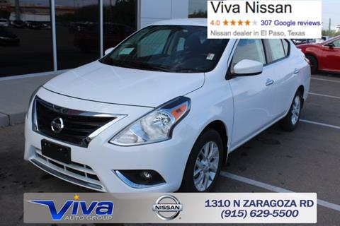 2017 Nissan Versa for sale in El Paso, TX